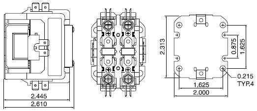 air condition ac contactor 1pole 1 5pole 2pole 3pole