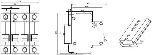c45n miniature circuit breaker mcbfamily short circuit protection